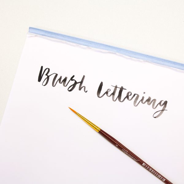 Penseel brush lettering