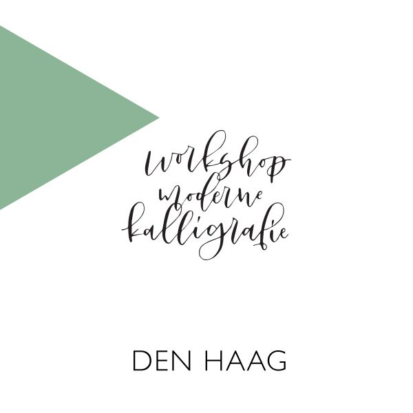 Moderne kalligrafie workshop Den Haag