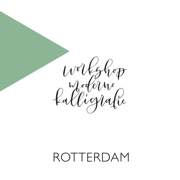 Moderne kalligrafie workshop Rotterdam