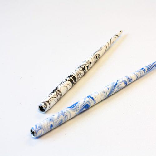 Penhouders marble blauw of zwart