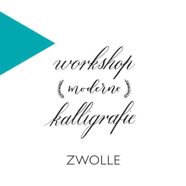 Workshop kalligrafie copperplate modern Zwolle