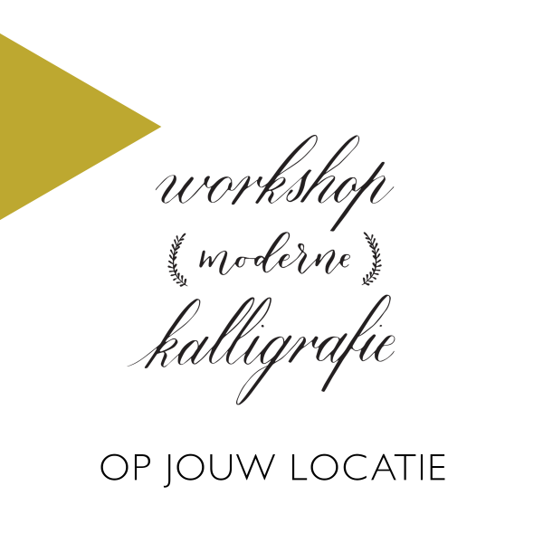 Workshop kalligrafie copperplate modern op locatie