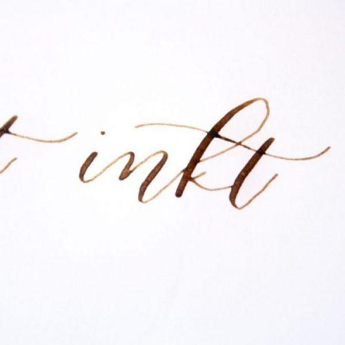 Walnoten inkt kalligrafie