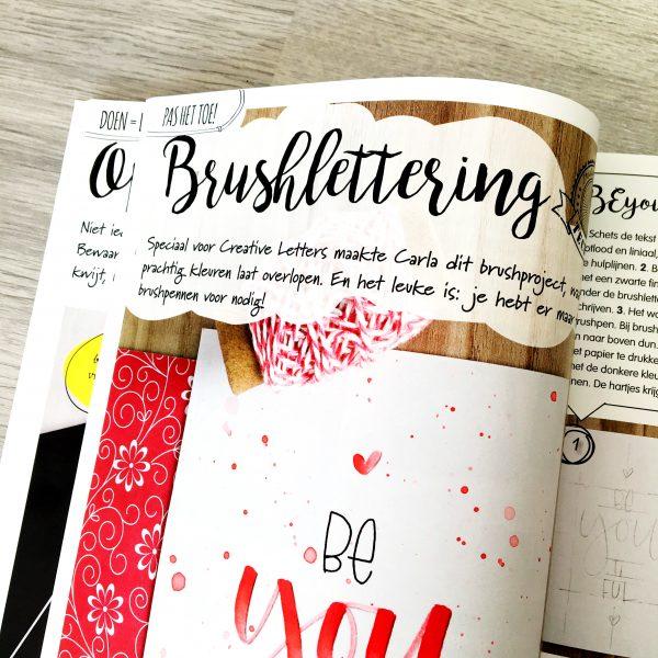 Magazine Creative letters handlettering kalligrafie brushlettering
