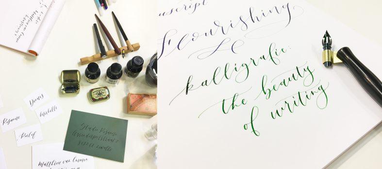Kalligraferen voor Manuscript