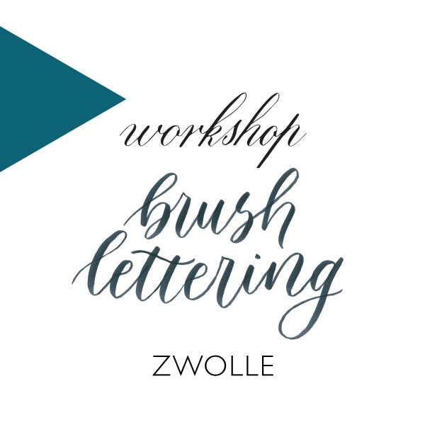 Workshop kalligrafie brushlettering zwolle