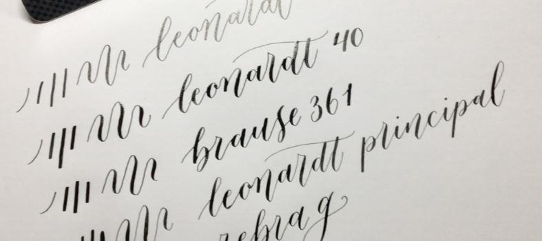 Verschillen tussen nibs kalligrafie