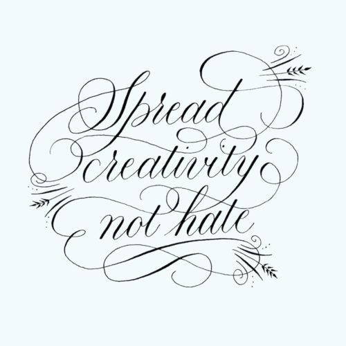 Flourishing kalligrafie handlettering