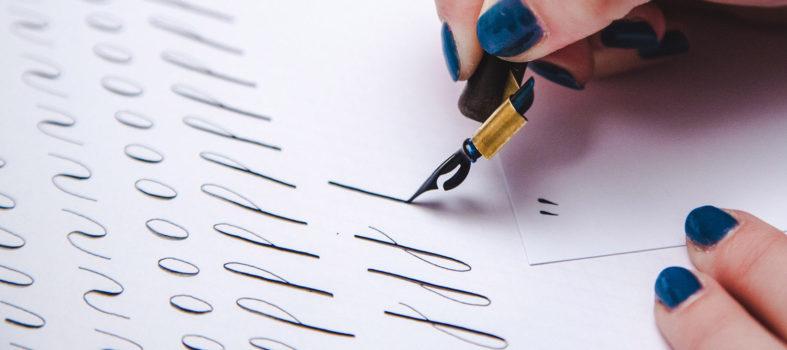 Gratis werkboek basisvormen kalligrafie