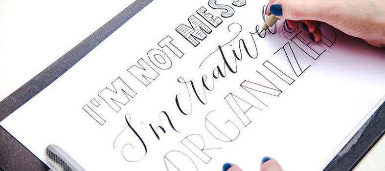 Wat is handlettering en kalligrafie