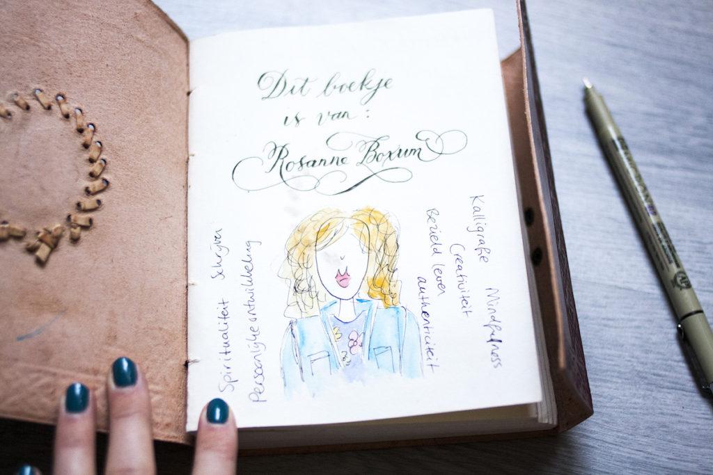 Journaling begin pagina creatief