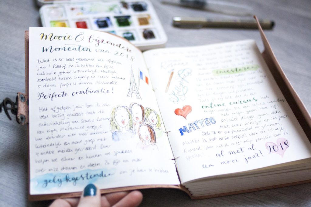 Journaling creatieve pagina