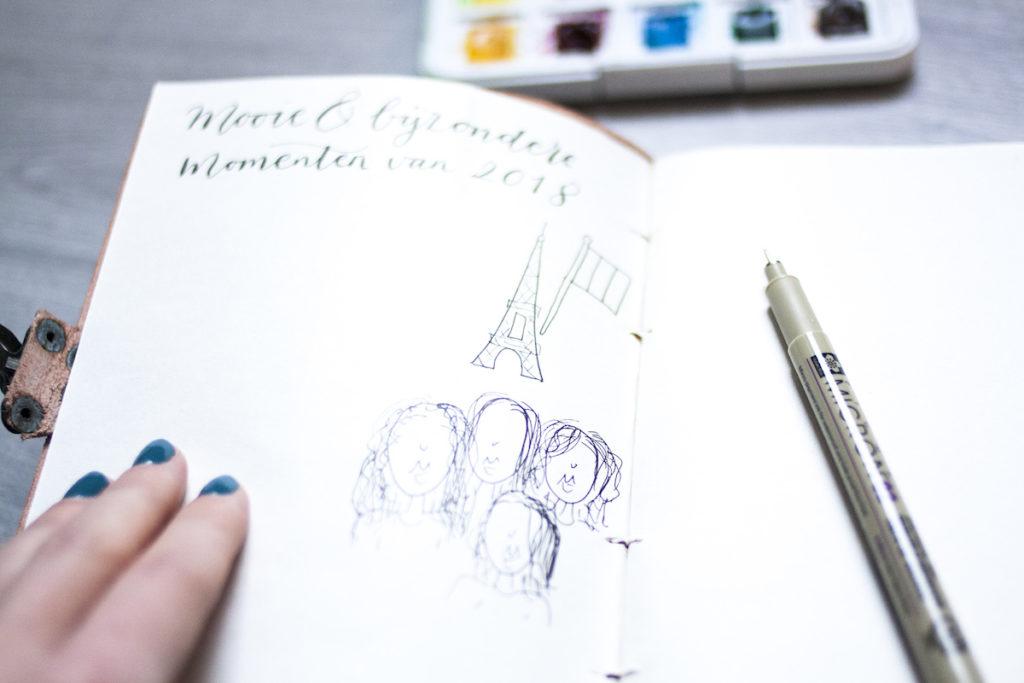 Journaling schetsen reflectie