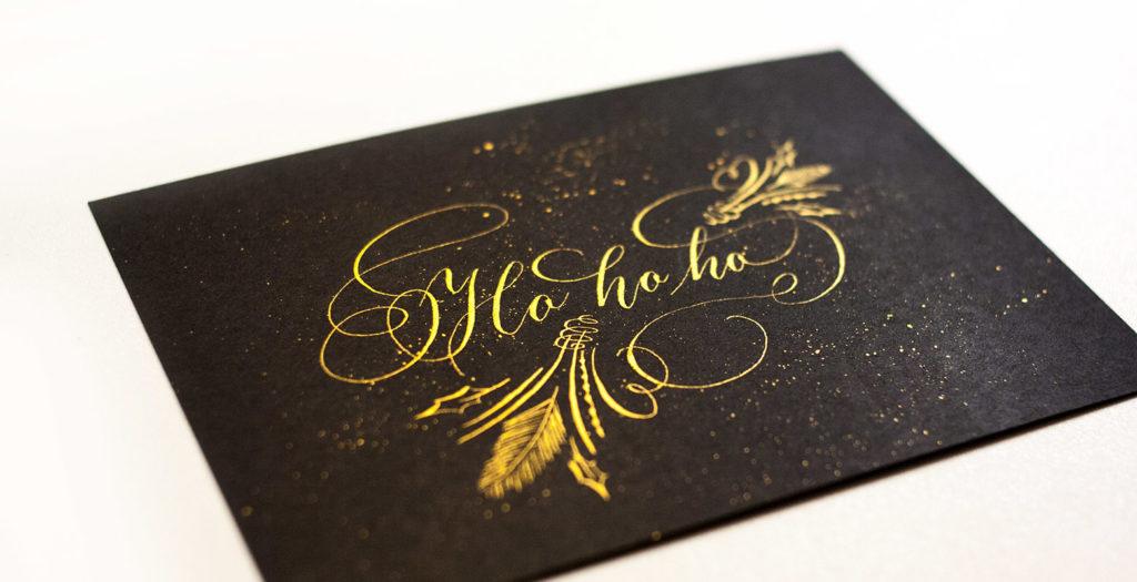 Kerst kalligrafie quote printable