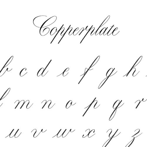 kalligrafie alfabet letters voorbeelden