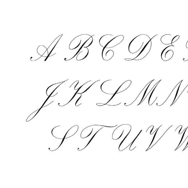 kalligrafie alfabet letters voorbeelden hoofdletters