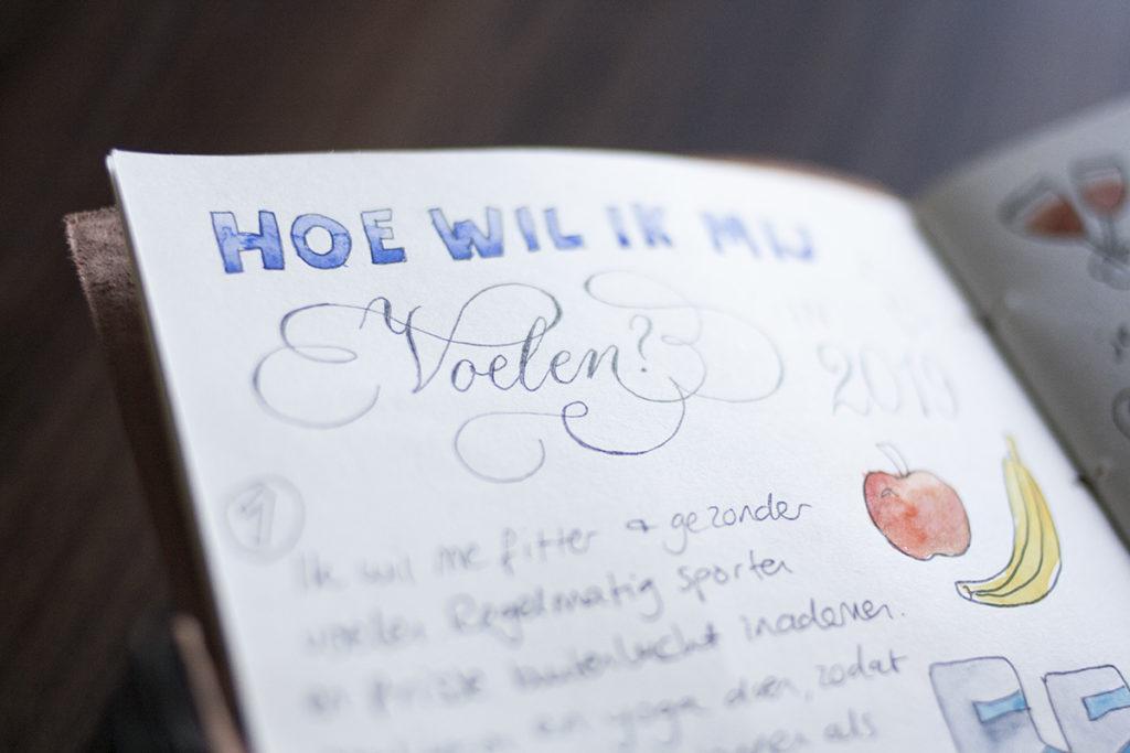 Creatief journal kalligrafie