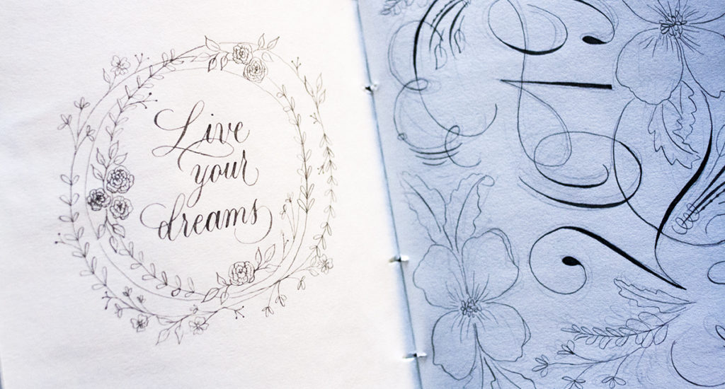 Live your dreams kalligrafie