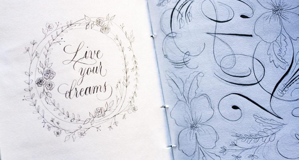 Live your dreams kalligrafie