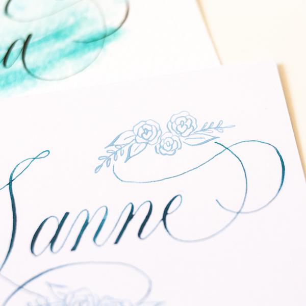 Mini workshop kalligrafie flourishing Creative Life