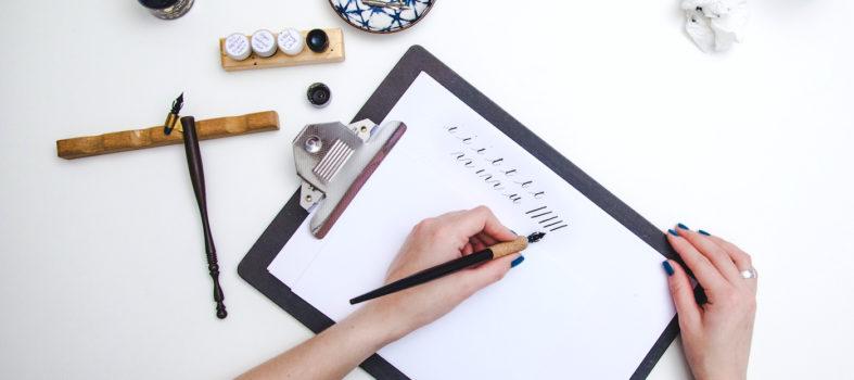 Zo begin je met kalligrafie