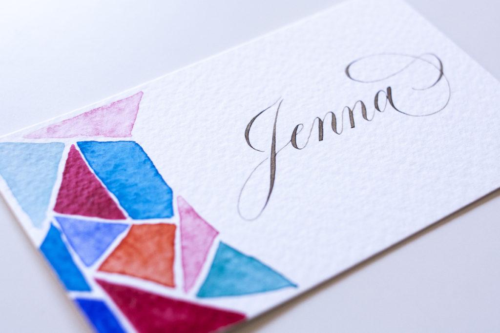 Jenna Rainy watercolor calligraphy