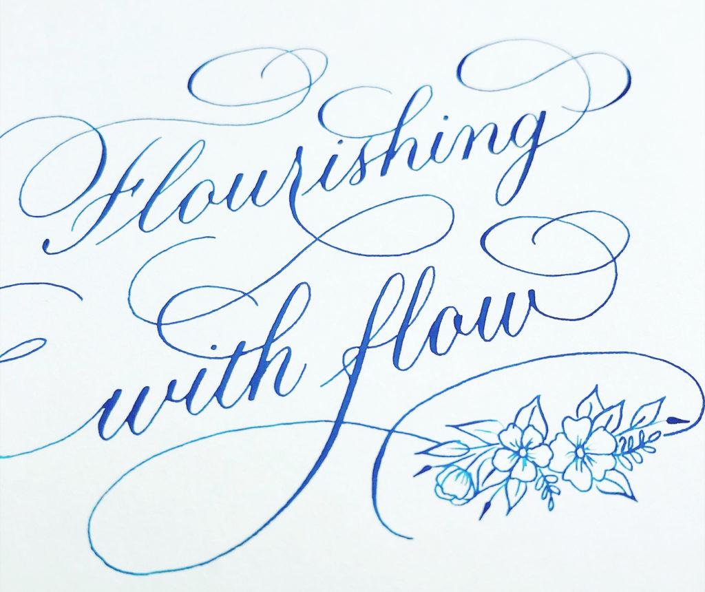 Online kalligrafie cursus flourishing
