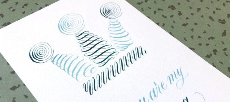 Koningsdag kalligrafie drill 4
