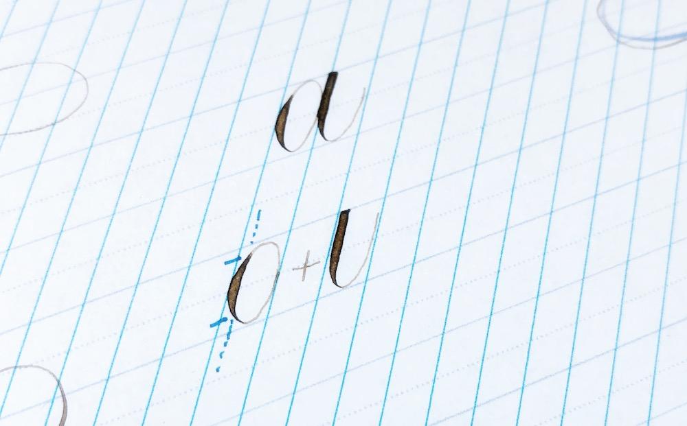 Leren kalligraferen techniek