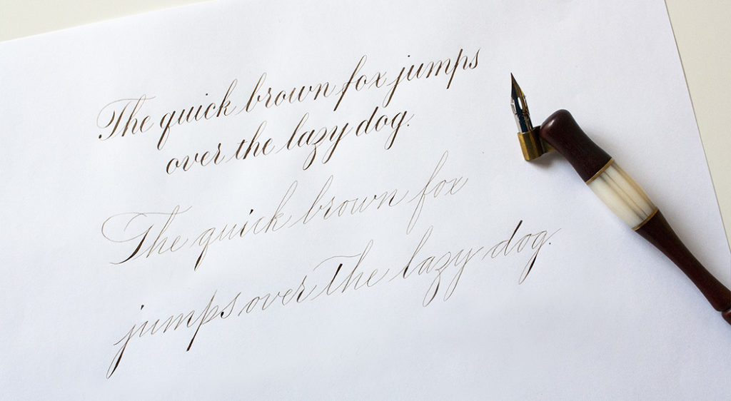Copperplate vs Spencerian kalligrafie