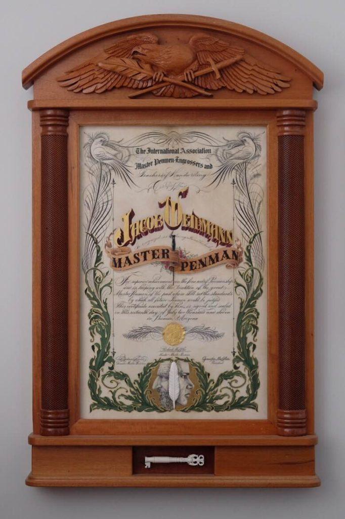 Jake Weidmann Meester Kalligraaf