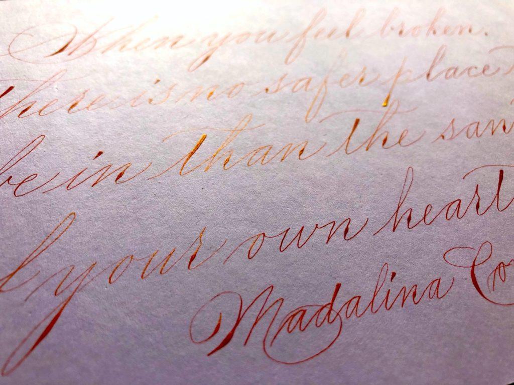 Spencerian detail kalligrafie