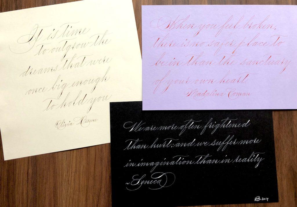 Spencerian kalligrafie werkstuk