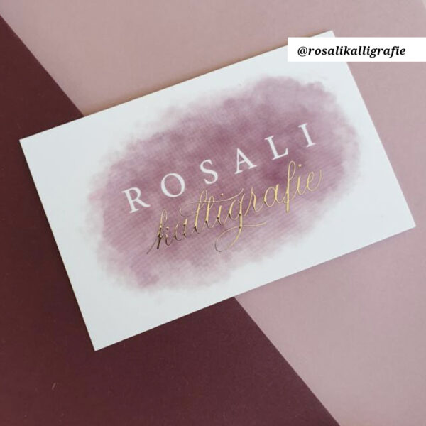 Rosali kalligrafie digitaliseren