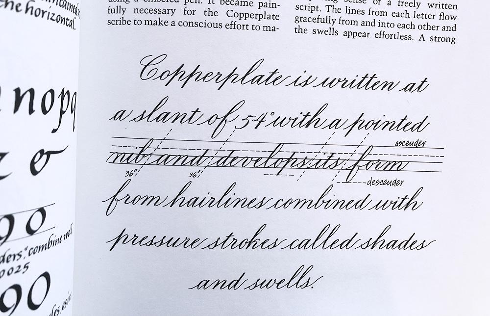 Copperplate Roundhand kalligrafie geschiedenis
