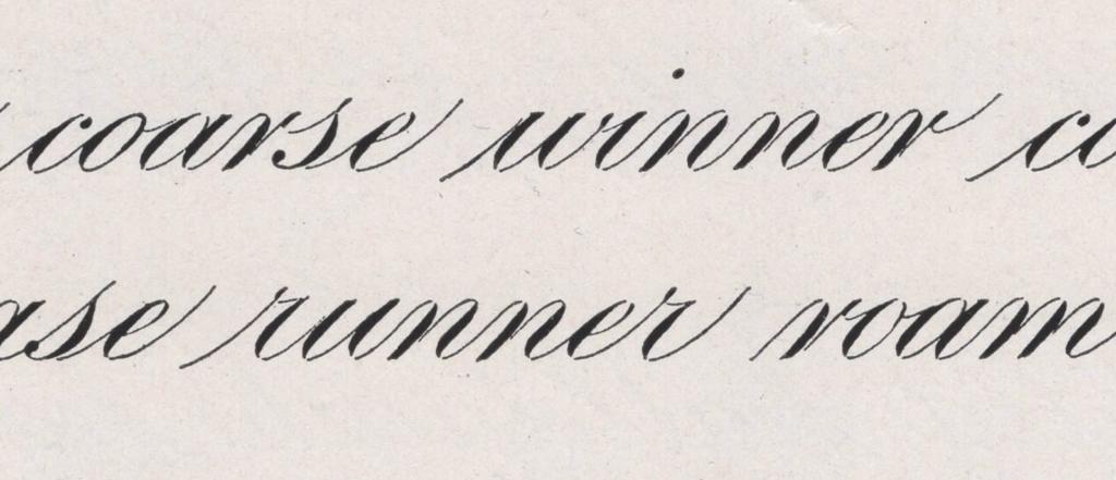 Engrosser's Script kalligrafie geschiedenis