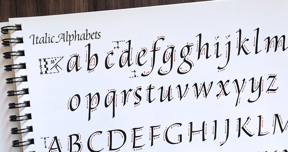 Italic kalligrafie geschiedenis