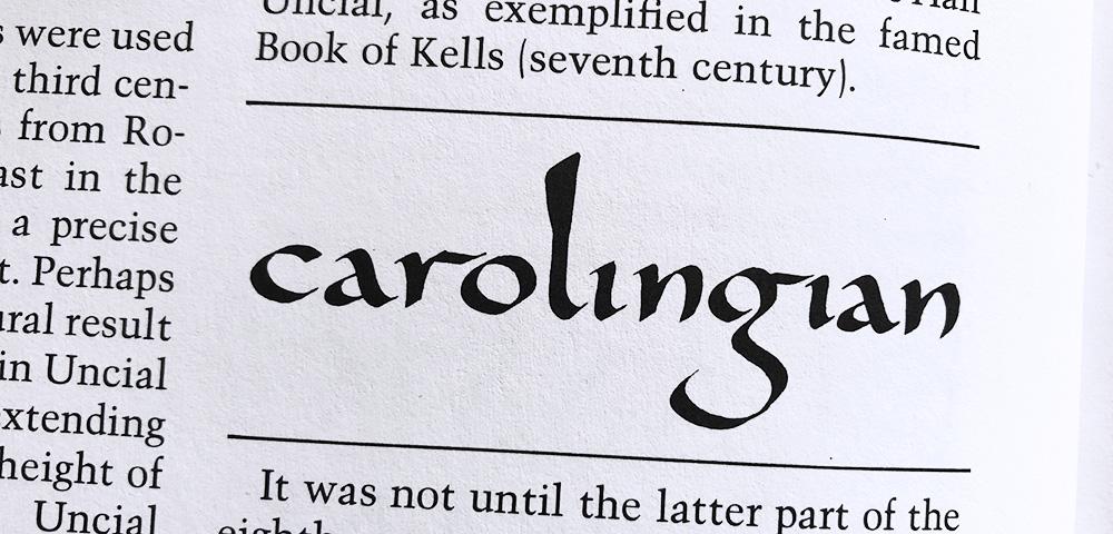 Karolingisch kalligrafie geschiedenis