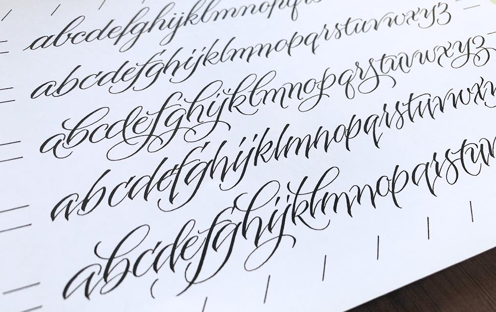 Moderne kalligrafie geschiedenis