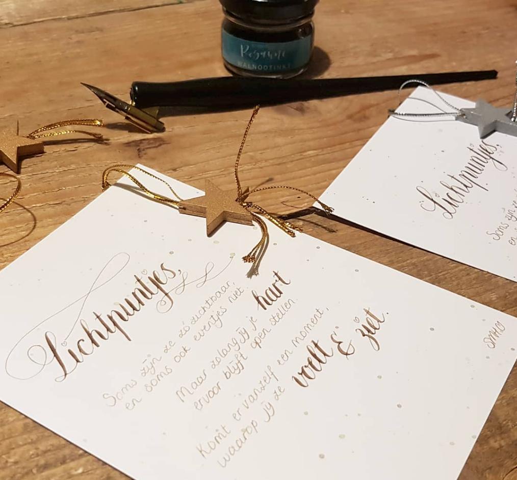 Workshop kalligrafie lichtpuntjes