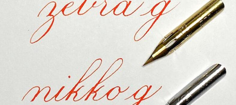 Kalligrafie - Zebra G vs Nikko G penpunt