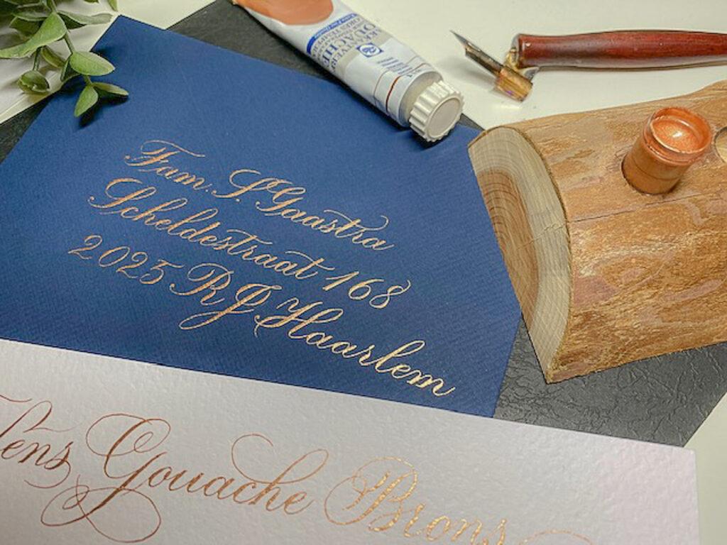 Talens gouache extra fine quality kalligrafie inkt goud