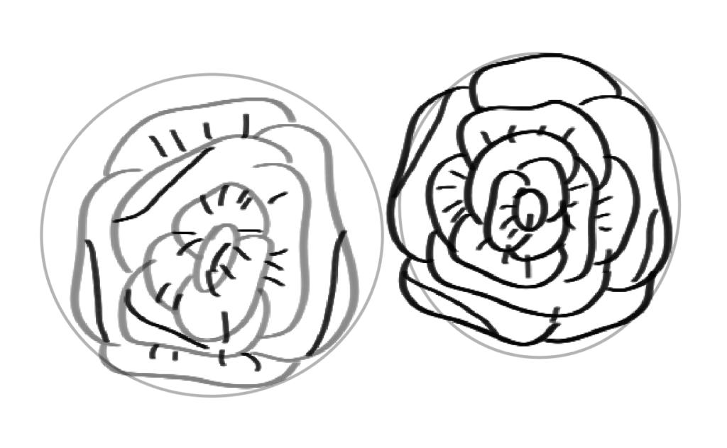 Flourishing illustraties kalligrafie stap 2 diepte