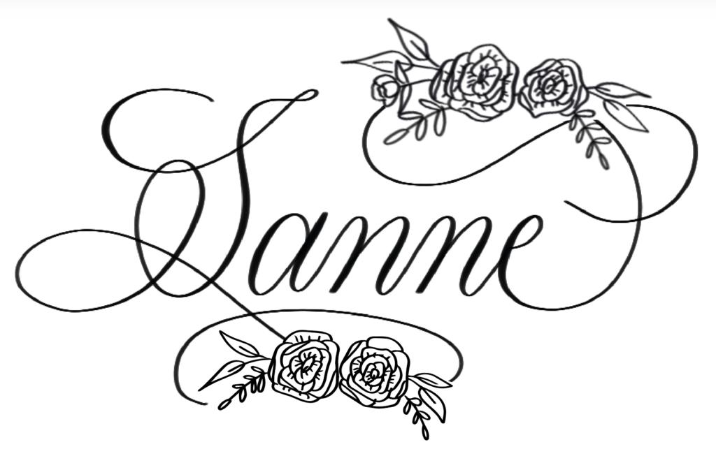 Flourishing naam krullen kalligrafie illustraties
