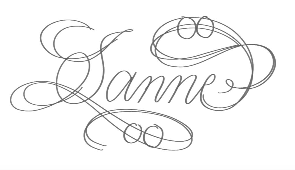 Flourising schets kalligrafie stap a