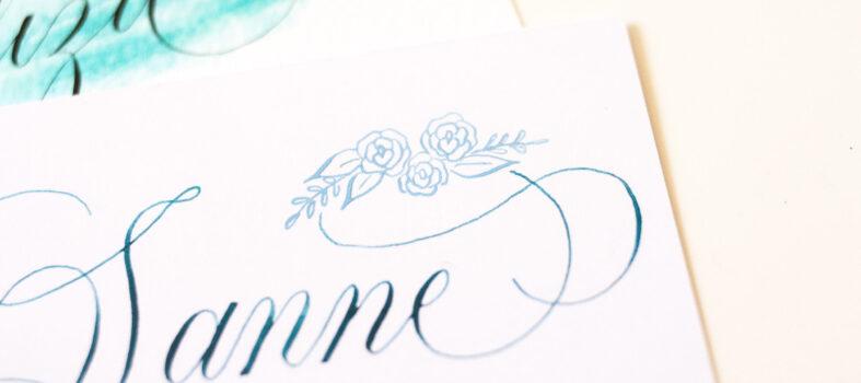 Mini workshop flourishing kalligrafie