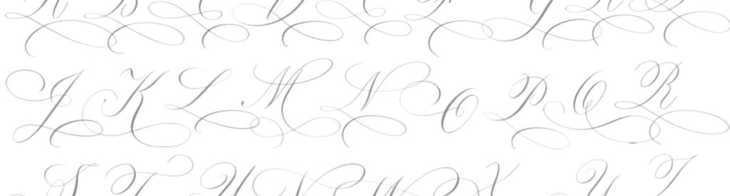 Flourishing voorbeelden kalligrafie